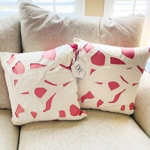 Diane Von Furstenberg Cutout Applique Pink Pillows
